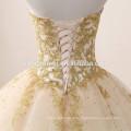 2017 новая мода милая декольте паффи бальное платье шампанское цветные свадебные платья с тяжелой ручной работы