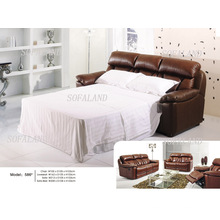 Sofá-cama de couro moderno 586 #