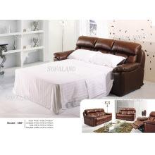 Современный кожаный диван-кровать 586 #