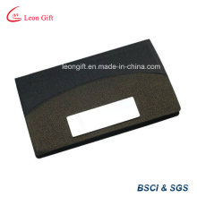 PU Leather and Metal Name Card Holder for Promotion