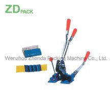 Engarzado de tensión de la herramienta de flejado de combinación 5/8 para bandas de plástico (ZDB-2001)