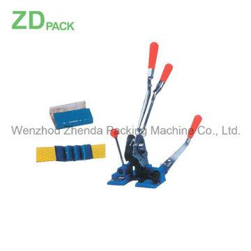 Sertissage de tension d'outil de cerclage combiné de 5/8 pour le baguage en plastique (ZDB-2001)