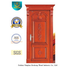 Classic Style Single Wood Door with Carving (DS-6006)