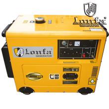 Generador de gasolina portátil super silencioso 5kw 6kVA con ruedas