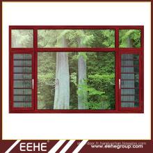 Section de fenêtre coulissante en aluminium de style ouvert et porte et fenêtre coulissantes en aluminium