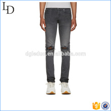 Slim-fit stretch denim cargo pants baggy biker denim pants