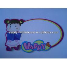 Panneau blanc miniature magnétique en plastique, tableau blanc pour enfants XD-CH082-1