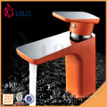 China products single handle chrome orange hot and cold water tap faucet