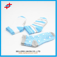 new style stripe knitted teenage ankle socks wholesale