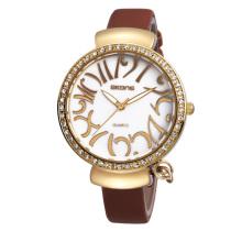 Europe and the United States Hot sale fashion pu leather female cheap wrist watch