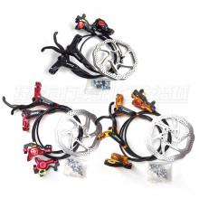 Black MTB Bicycle Disc Brake Set Kit Calipers Levers