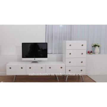 Высокая глянцевая Ронда ТВ мебель
