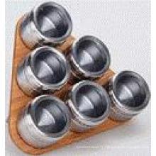 Étagère à épices magnétique inox (CL1Z-J0604-6J)
