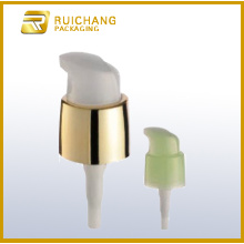 Cosmetic lotion pump with small actuator overcap