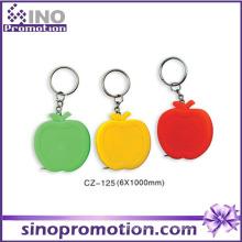 Kundenspezifisches nettes lustiges mini einziehbares Band-Maß Keychain