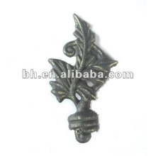 different kinds of curtain pole end cap/nice curtain rod finials