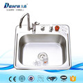 Low MOQ Free Standing Portable Plastic Inserts Stainless Steel Kitchen Sink With Drain Pipe