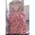 couverture de bon marché superbe durable satin froissé chaise pour mariage