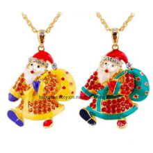 Jóias de natal / natal colar / pai natal (xjw13346)