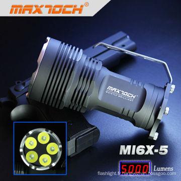 Maxtoch MI6X-5 XML T6 5000 Lumen 5 * Cree LED poignée grande puissance lampe de poche Rechargeable