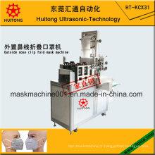 Machine automatique de corps de masque de pli ultrasonique de l'agrafe extérieure de nez