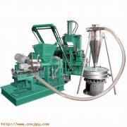 Air-cooled plastic mixing-pelletizing line