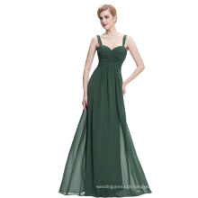Starzz Sweetheart Sleeveless Dark Green Chiffon Long Evening dress ST000065-4