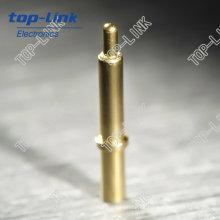Federbelasteter Pogo Pin (Einzelkontakt, Durchgangsloch, vergoldet)