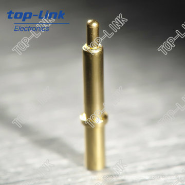 Spring Loaded Pogo Pin (single contact, through hole, gold plated)