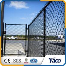 Высокое качество темно-зеленый 5мм диаметр проволоки с ПВХ покрытием цепи ссылка забор для бейсбола