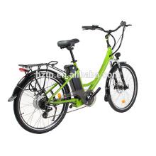 26 polegada 700C tamanho da roda senhora mulheres bicicleta da cidade elétrica da bicicleta
