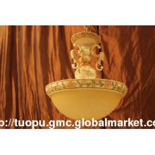 Hot Sale Delicate Resin and Glass European Art Flush Pendant Lamp