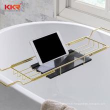 bamboo wooden stainless steel bathroom bathtub shower bath tray