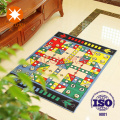 Aeroplane Chess Game Floor Mat with Anti Slip Layer