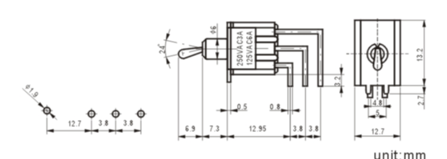 MTS-203-C4-1 toggle switch