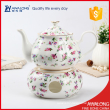 one cup tea pot set with a cheap price very beautiful design flower decal