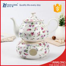 Um pote de chá copo definido com um decalque de flor de design muito bonito preço barato