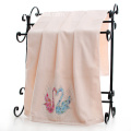 Russian Diamante Velvet Pile Swan Bath Towels
