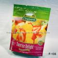 Sac imprimé et imprimé à la menthe de Nutrilite, sac en plastique emballé en plastique avec fermeture à glissière