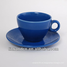 KC-03010bule taza de café de lujo con platillo, taza de café simple