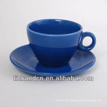 KC-03010bule fancy coffee cup with saucer,simple coffee mug