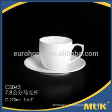 2015 new products ceramic hotel white bone china coffee cup