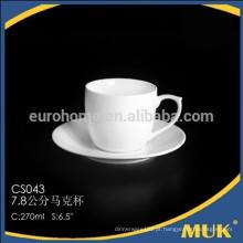 2015 novos produtos cerâmica hotel branco osso china copo de café