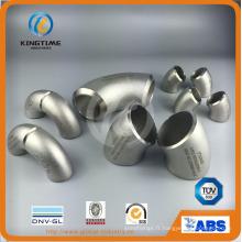 Coude Sch40 long rayon 90d en acier inoxydable avec SGS (KT0354)