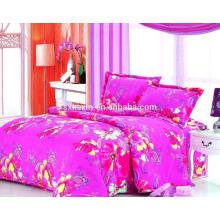 2017 al por mayor barato conjunto de ropa de cama rosa Falnnel 4ps