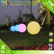 Bola impermeable al aire libre del resplandor de la luz LED al aire libre