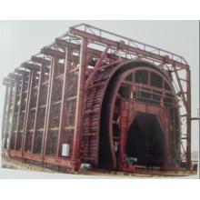 Forro de carrinho duplo de carrinho de túnel de corte aberto