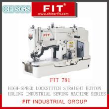 High Speed Lockstitch Straight Button Hole Sewing Machine (781)