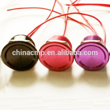 Por encargo 200pcs 19MM Rojo / Azul / Verde / Dorado / Negro Púrpura Antivandalismo Botón Pulsador Piezo eléctrico Impermeable IP68