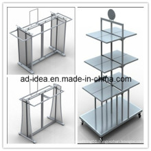 Adjustable Chrome Garment Flooring Display Stand/Display Rack